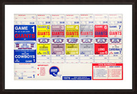 1976 New York Giants NFL Ticket Sheet Reproduction Poster Row One Picture Frame print