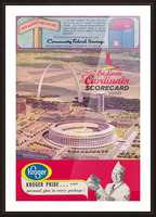 1966 St. Louis Cardinals Opening Game New Busch Stadium Scorecard Kroger Food Ad Poster Picture Frame print