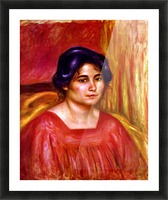 Gabrielle with red blouse by Renoir Picture Frame print