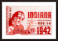 1942 Indiana Football Art Picture Frame print