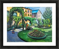 Garden image by Macke Picture Frame print