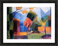 Garden on the lake of Thun by Macke Picture Frame print