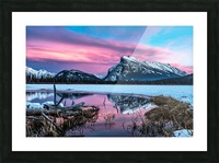 Rundle Mountain Sunset Banff National Park Picture Frame print