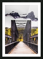 The Engine Bridge Canmore Picture Frame print