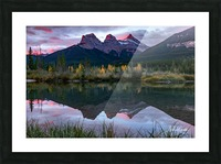 Three Sisters Fall Sunrise Canmore Picture Frame print