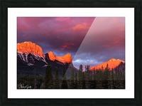 Ha Ling Mountain Range Sunrise Picture Frame print