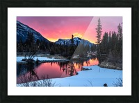 Sunrise At Policemans Creek Alberta Picture Frame print