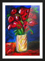 Red Cala Lilies Picture Frame print