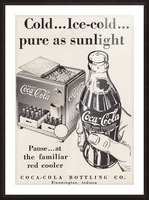 Vintage Coke Ad Bloomington Indiana Picture Frame print