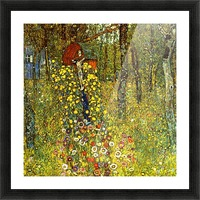 Garden with crucifix by Klimt Picture Frame print