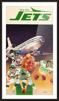 1982 new york jets art artist george zebot Picture Frame print