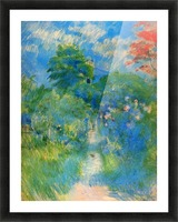 Gardenpath in Mezy by Morisot Picture Frame print