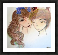 Dayfauncouplelove Picture Frame print