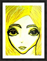 yellowgirl1 Picture Frame print