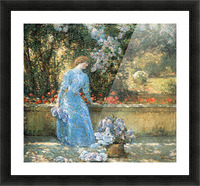 Woman in park by Hassam Picture Frame print