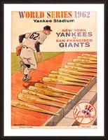 1962 Yankees World Series Program Picture Frame print