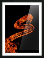 Burning on Fire Letter S Picture Frame print