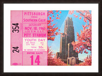1961 usc pitt panthers football ticket stub poster print metal wood tickets Picture Frame print