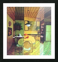 Retro Kitchen Picture Frame print