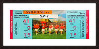 1968 syracuse navy college football ticket stub art poster vintage canvas metal tickets row 1 Picture Frame print