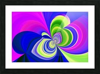 PSYCHEDELIC BUTTERFLY 2 Picture Frame print