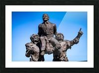 Vince Dooley Statue University of Georgia   Athens GA 07173 Picture Frame print
