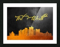 Fort Worth Texas Skyline Wall Art Picture Frame print