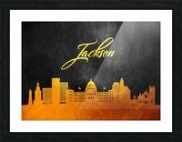 Jackson Florida Skyline Wall Art Picture Frame print