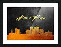 New Haven Connecticut Skyline Wall Art Picture Frame print