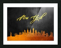 New York New York Skyline Wall Art Picture Frame print