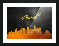 Newark New Jersey Skyline Wall Art Picture Frame print