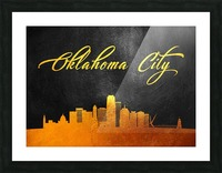 Oklahoma City Oklahoma Skyline Wall Art Picture Frame print