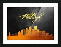 Pittsburgh Pennsylvania Skyline Wall Art Picture Frame print