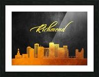 Richmond Virginia Skyline Wall Art Picture Frame print