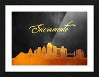 Sacramento California Skyline Wall Art Picture Frame print