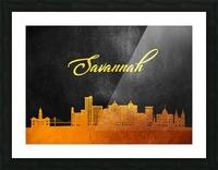 Savannah Georgia Skyline Wall Art Picture Frame print