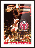 1985 Michael Jordan Dunk Poster Bulls 20th Anniversary Picture Frame print
