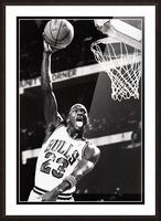 Retro Eighties Michael Jordan Basketball Art Print Picture Frame print