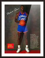 1987 McDonalds Michael Jordan Ad Poster Picture Frame print