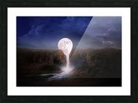 moon landscape night fantasy Picture Frame print