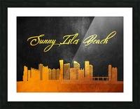 Sunny Isles Beach Florida Skyline Wall Art Picture Frame print
