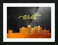 Wichita Kansas Skyline Wall Art Picture Frame print