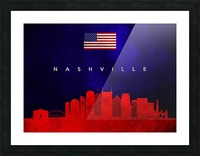 Nashville Tennessee Skyline Wall Art Picture Frame print