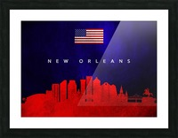 New Orleans Louisiana Skyline Wall Art Picture Frame print