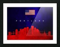 Portland Oregon Skyline Wall Art Picture Frame print