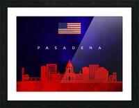 Pasadena California Skyline Wall Art Picture Frame print