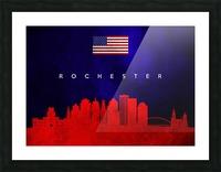 Rochester New York Skyline Wall Art Picture Frame print