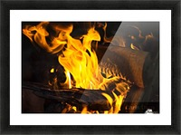 fire Picture Frame print