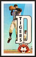 retro remix detroit tigers poster Picture Frame print