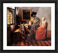 Glass of wine by Vermeer Picture Frame print